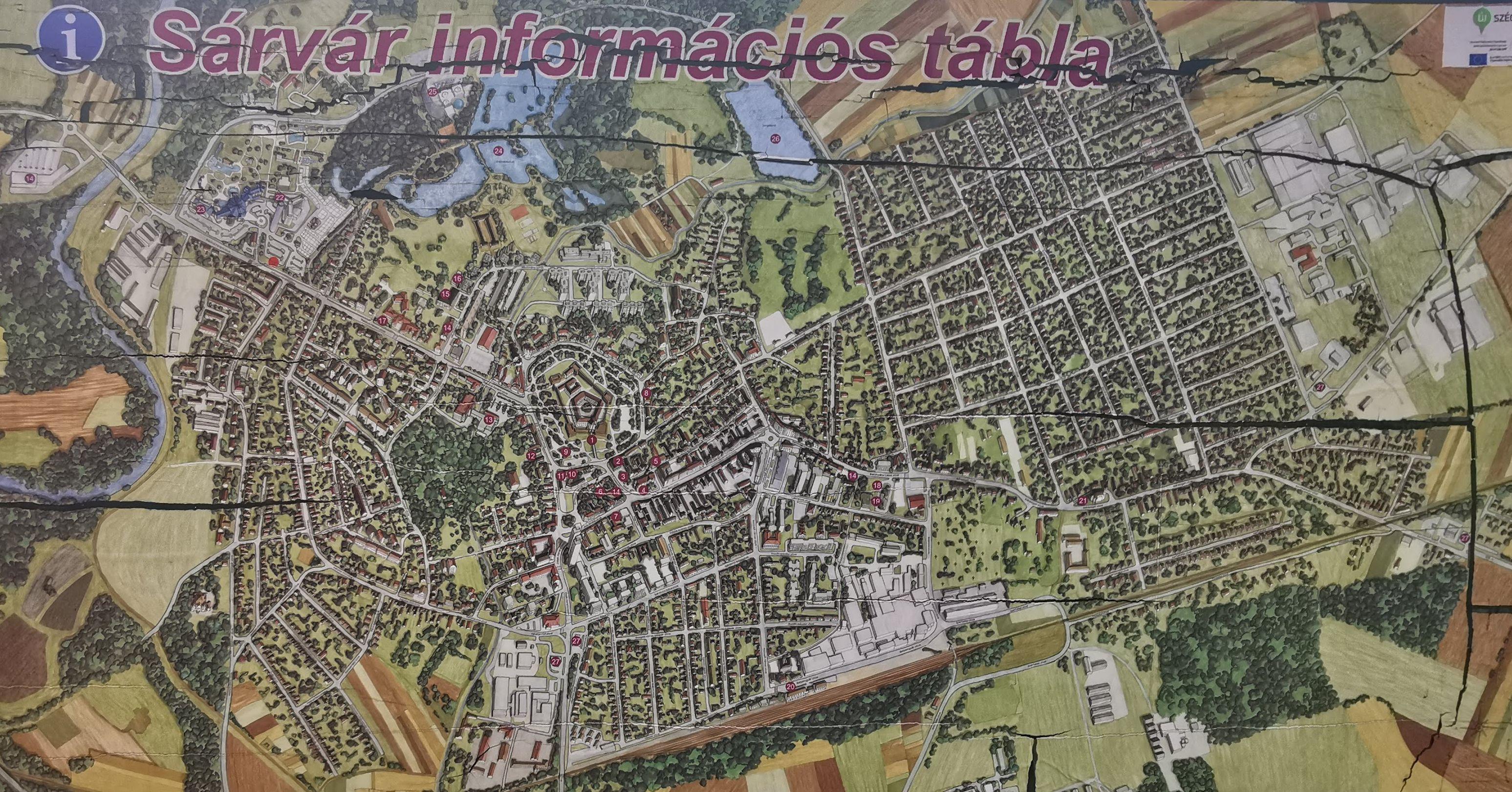 Sárvár térképe